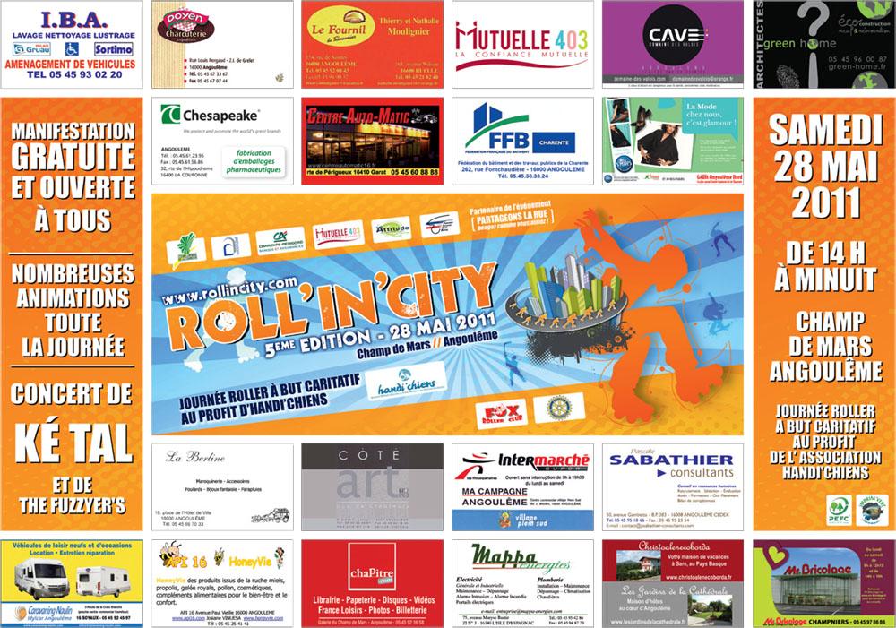 Roll 39 in 39 city recherche des partenaires Set de table publicitaire prix
